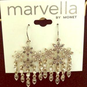 Marvella by Monet chandelier earrings